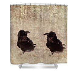 Messenger Shower Curtain by Priska Wettstein
