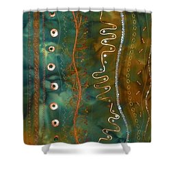 Metal Candy Shower Curtain by Jenny Williams