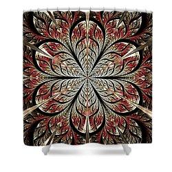 Metal Flower Shower Curtain by Anastasiya Malakhova