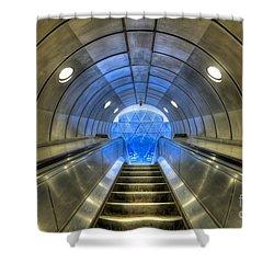 Metal Fusion Shower Curtain by Evelina Kremsdorf