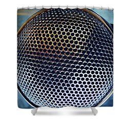 Metal Mesh Shower Curtain by Les Cunliffe