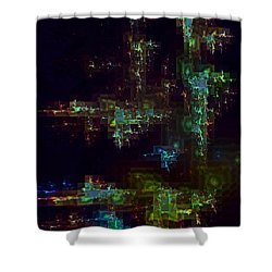 Shower Curtain featuring the digital art Metal Works by Greg Moores