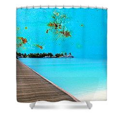 Metalbeach Shower Curtain