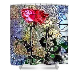 Metalic Rose Shower Curtain