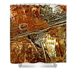 Metallic Ice Shower Curtain by Chris Berry