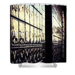 Metallic Reflections Shower Curtain