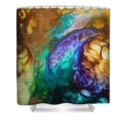 Metamorphic Sapphire Shower Curtain by Lucy Matta - LuLu