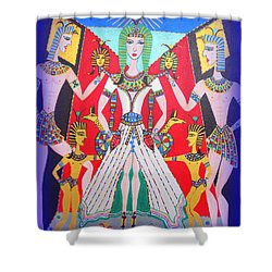 Metamorphosis Of Melisa Into Nefertiti Shower Curtain