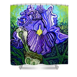Metaphysical Iris Shower Curtain by Genevieve Esson