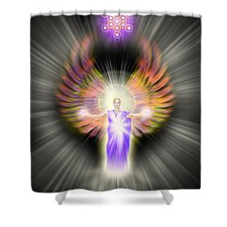 Metatron Shower Curtain