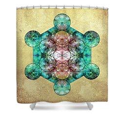 Metatron's Cube Shower Curtain by Filippo B