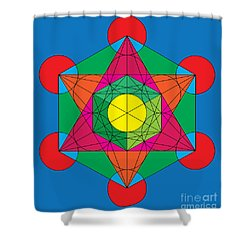 Metatron's Cube In Colors Shower Curtain