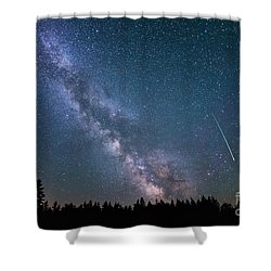 Meteor Milky Way  Shower Curtain