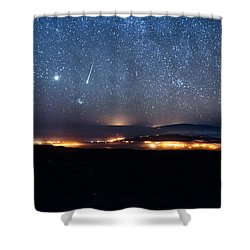 Meteor Over The Big Island Shower Curtain
