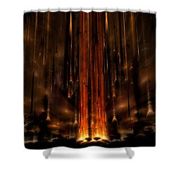 Meteors Shower Curtain by GJ Blackman