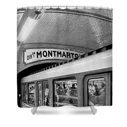 Shower Curtain featuring the photograph Metro At Montmartre. Paris by Jennie Breeze