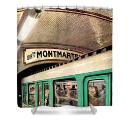 Shower Curtain featuring the photograph Metro To Montmartre. Paris   by Jennie Breeze