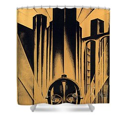 Metropolis Poster Shower Curtain