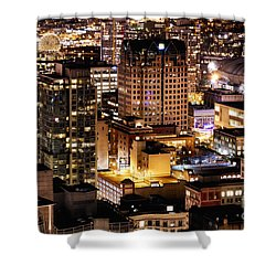 Shower Curtain featuring the photograph Metropolis Vancouver Mdccxv  by Amyn Nasser