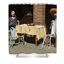 Mexican Antique Family Shower Curtain by Roderick Bley