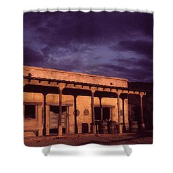 Mexican Cantina Rio Lobo Set Old Tucson Arizona 1971-1980 Shower Curtain by David Lee Guss
