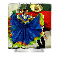 Mexican Dancers Shower Curtain by Elisabeta Hermann