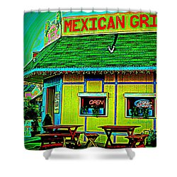 Mexican Grill Shower Curtain