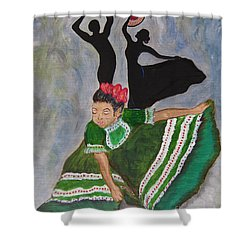 Mexican Hat Dance Shower Curtain