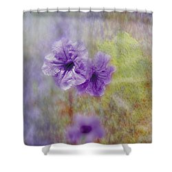 Mexican Petunia Shower Curtain