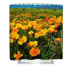 Mexican Poppies Shower Curtain