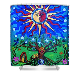 Mexican Retablos Prayer Board Small Shower Curtain