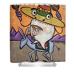 Mexican Tooth Shower Curtain
