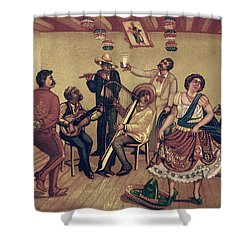 Mexico: Hat Dance Shower Curtain by Granger