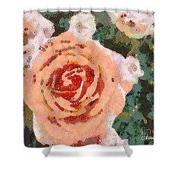 Alameda Meyers House Garden Klimt Rose Shower Curtain