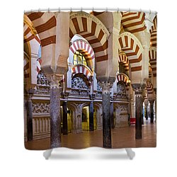 Mezquita Prayer Hall In Cordoba Shower Curtain by Artur Bogacki