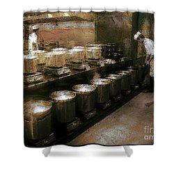 Mi Kitchen Shower Curtain by Jack Gannon