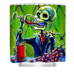 Mi Merlot Shower Curtain