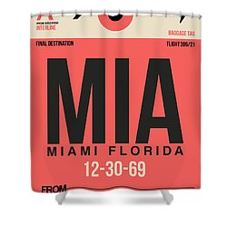 Miami Airport Poster 3 Shower Curtain by Naxart Studio