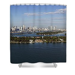 Miami And Star Island Skyline Shower Curtain