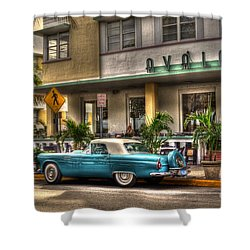 Miami Beach Art Deco 1 Shower Curtain by Timothy Lowry