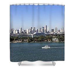 Miami Daytime Panorama Shower Curtain