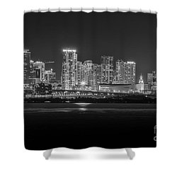 Miami On A Clear Summer Night Shower Curtain