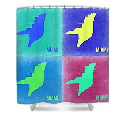 Miami Pop Art Map 2 Shower Curtain