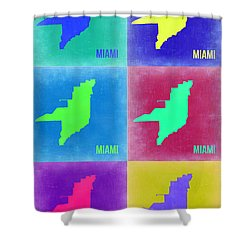Miami Pop Art Map 3 Shower Curtain