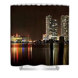 Miami - Skyline Panorama Shower Curtain