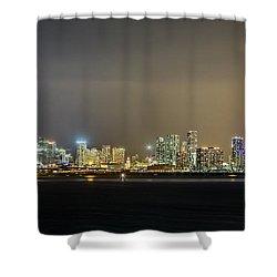 Miami Skyline View II Shower Curtain