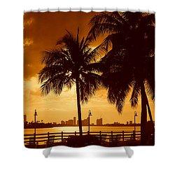 Miami South Beach Romance II Shower Curtain