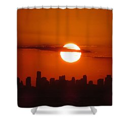 Shower Curtain featuring the photograph Miami Sunset by Jennifer Wheatley Wolf