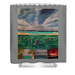 Shower Curtain featuring the painting Delfin by Vanessa Palomino