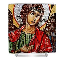 Michael Archangel Shower Curtain by Ryszard Sleczka